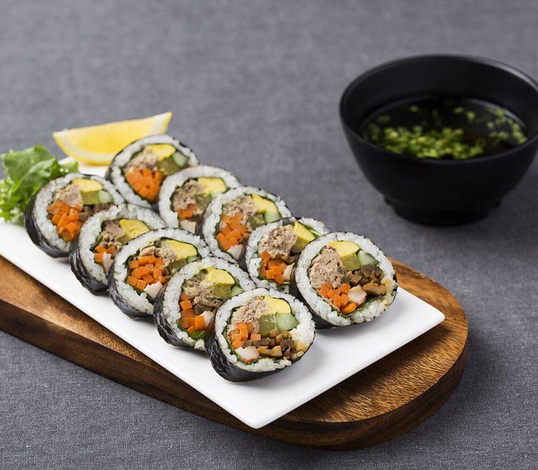 Tasty Japanese Egg Sushi with Miso Soup