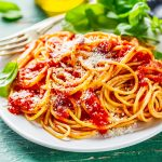 Tasty Italian Spaghetti With Tomato Sauce