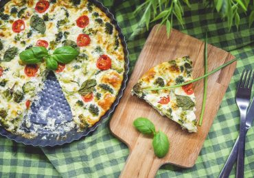 Broccoli Pie with Basil